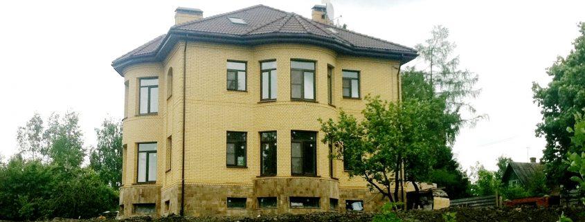 Дом из поризованного камня построен в С-Пб.г.Пушкин