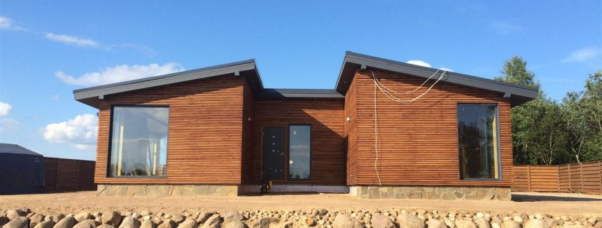 Дом каркасный деревянный в С-Пб и Л.О. Поляна2 36 км.