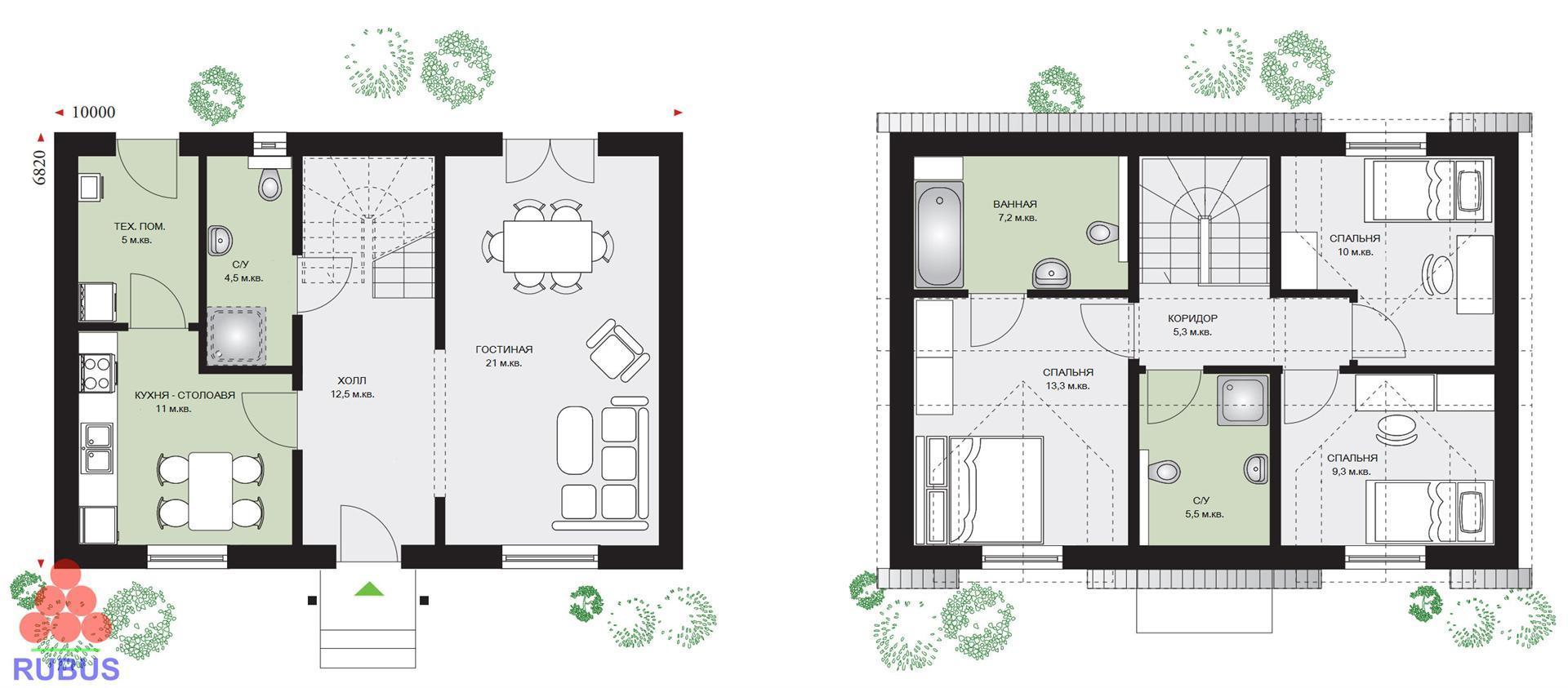 Проект дома с мансардой 1МS-114