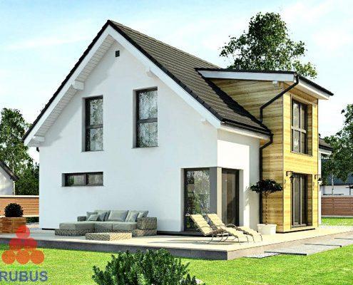 Проект дома с мансардой 1МS-150
