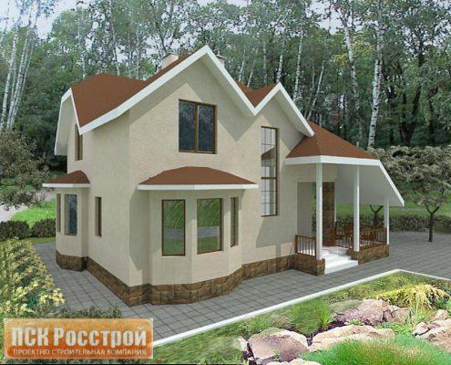Проект дома с мансардой 1МS-139