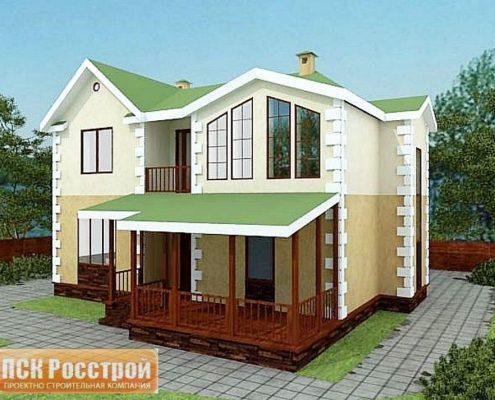 Проект дома с мансардой 1МS-170