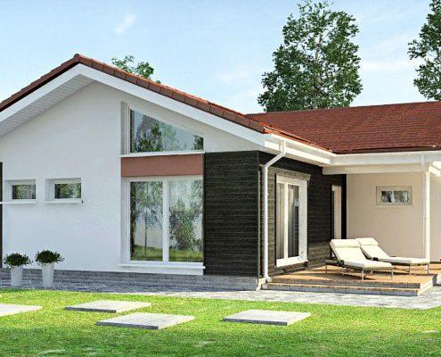 Проект одноэтажного дома 1S-111