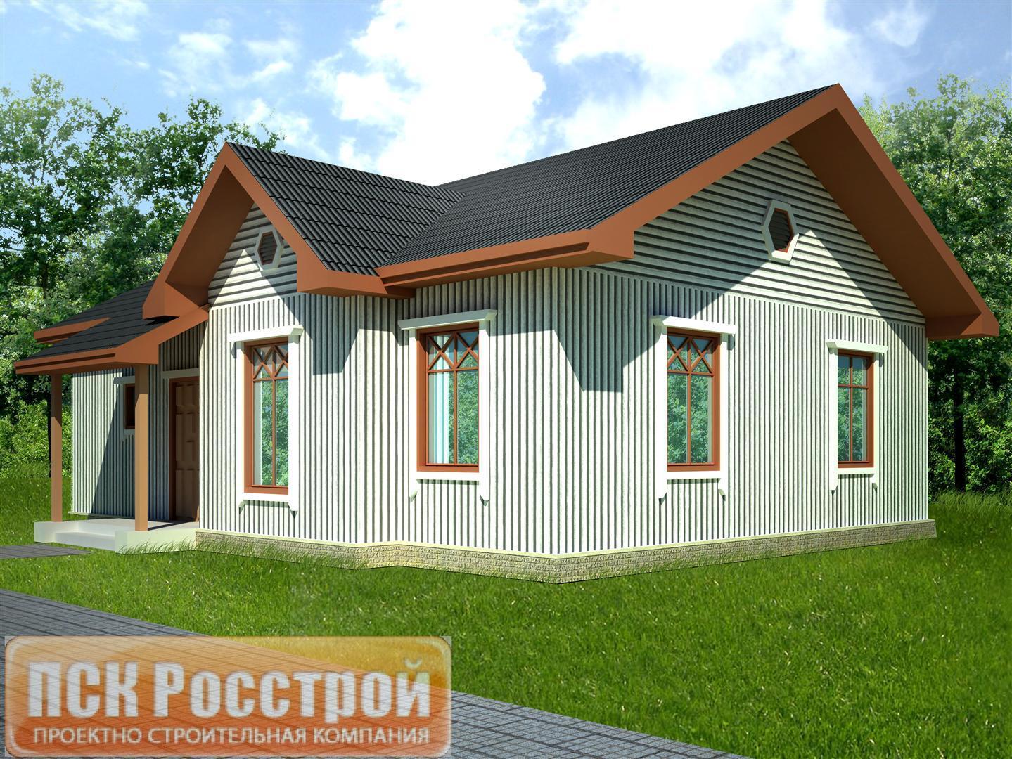 Проект одноэтажного дома 1S-87