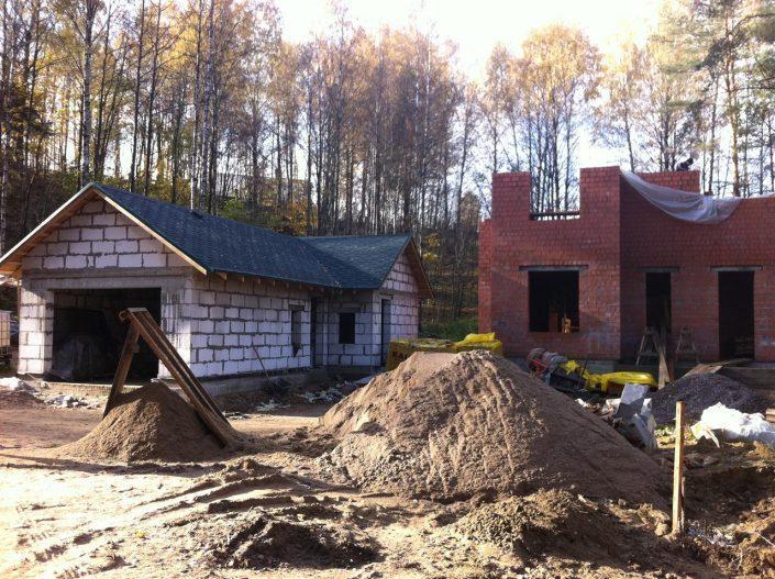 Строительство гаража из пенобетона