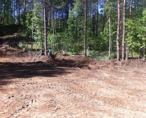 Разработка участка - начало строительства дома
