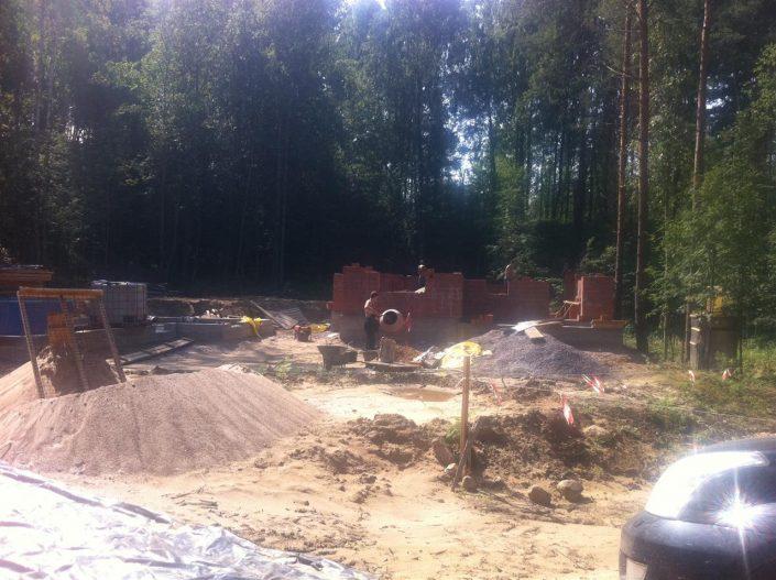 Начало строительства дома из кирпича