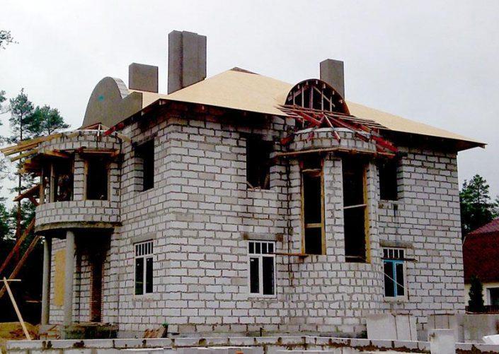 Дом на сложных грунтах, разработка котлована, устройство основания, от 20000руб. 1м2
