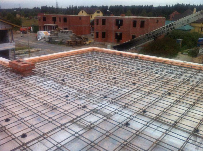 Перекрытие. Вязка арматуры, заливка товарного бетона от 6500 руб с материалами за метр кубический