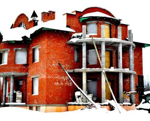 Кирпичный дом, без отделки от 17500 за 1м2
