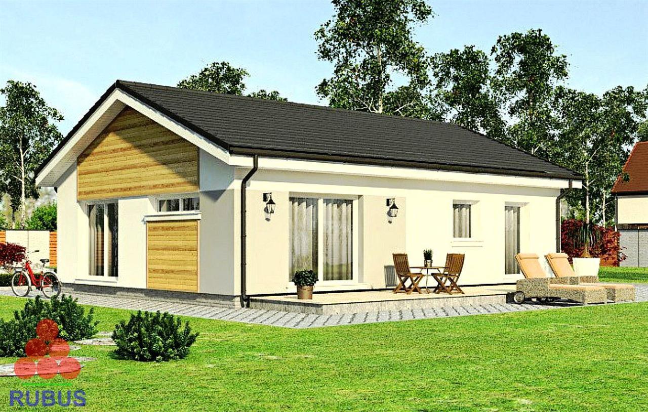 Проект одноэтажного дома 1S-82 из газобетона или кирпича
