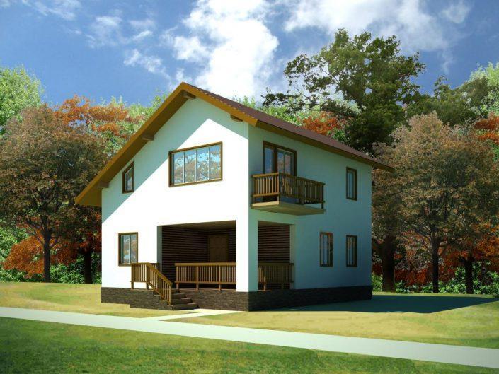 Проект дома с мансардой в СПб