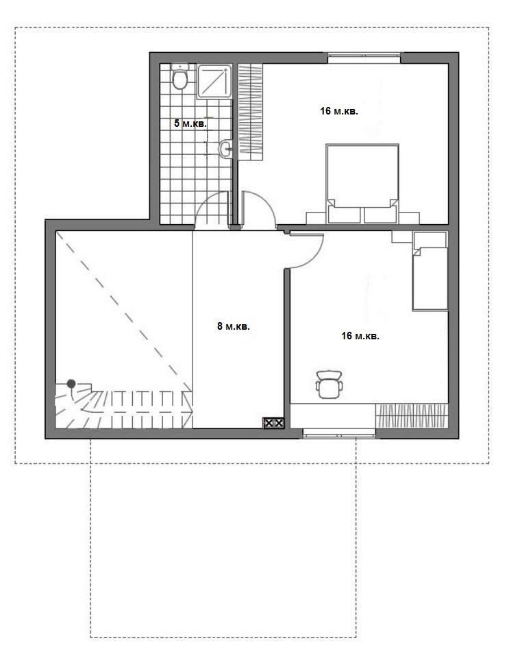 Проект дома план мансарды