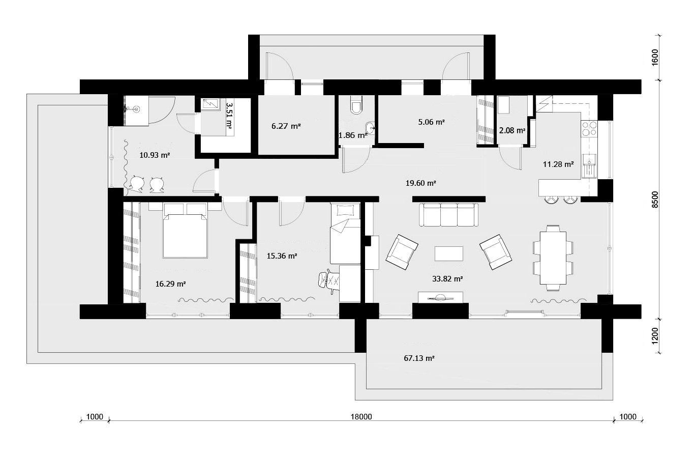Современная планировка загородного дома