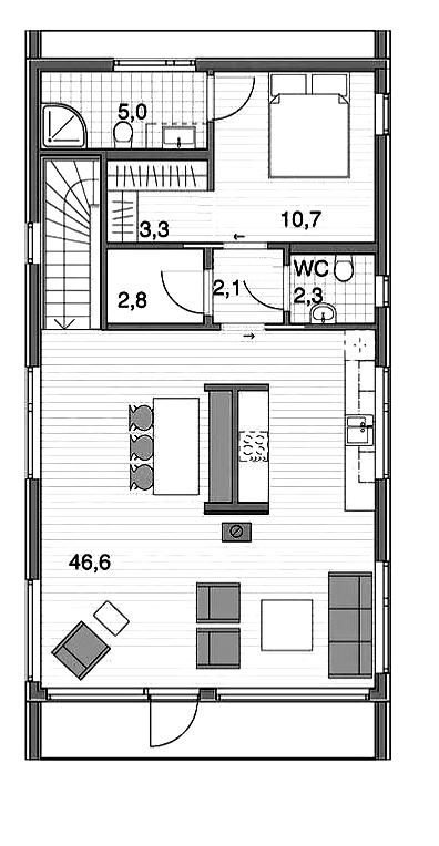 Дом в стиле Барн 2 этаж