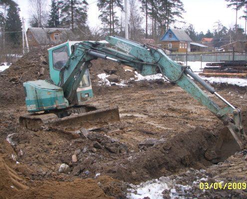 Разработка участка под строительство дома